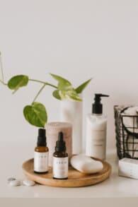 Vitaminas en un cosmetico antiedad
