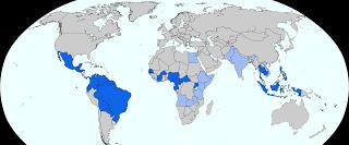 mapa paises con zika